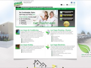 Plumbing Air Conditioning Web Design